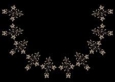 O bordado costura a linha de imitação teste padrão do pescoço com flo do vintage imagens de stock royalty free