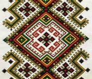 O bordado nacional ucraniano tradicional no linho Foto de Stock Royalty Free