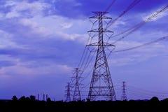 O borne da eletricidade é de alta tensão Fotos de Stock Royalty Free