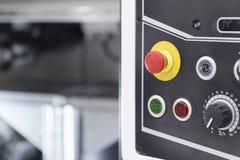 O botão do botão da emergência ou da emergência foto de stock