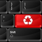 O botão do computador recicla Foto de Stock