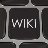 O botão do Web site da chave de computador de Wiki edita a informação Imagem de Stock Royalty Free