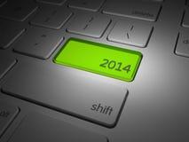 O botão dos 2014 anos novo destacado Imagens de Stock Royalty Free