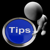 O botão das pontas significa ponteiros e orientação das sugestões Foto de Stock Royalty Free