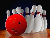 O bowling fixa para baixo ilustração stock