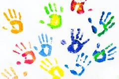 O braço colorido imprime o sumário Imagens de Stock