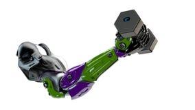 O braço colorido levanta o peso Imagem de Stock Royalty Free