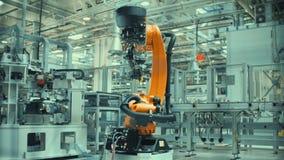 O braço robótico do Time Lapse está funcionando vídeos de arquivo