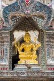 O Brahma quatro-enfrentado dourado (Phra Phrom) 01 fotografia de stock