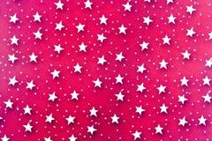 O branco abstrato Stars o fundo Fotografia de Stock