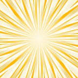 O branco amarelo brilhante duro abstrato irradia o fundo Vetor Imagem de Stock Royalty Free