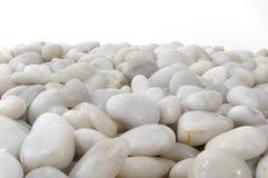 O branco apedreja horizontal do fundo isolado Imagem de Stock