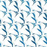 O branco azul do vetor engole os pássaros geométricos Fotografia de Stock