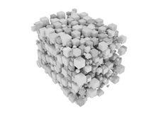 O branco cuba 3D isolado ilustração royalty free