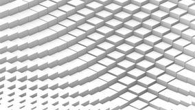 O branco de transforma o laço do cubo ilustração stock