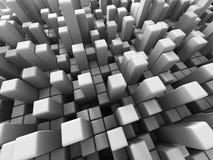 O branco futurista abstrato cuba o fundo Fotos de Stock