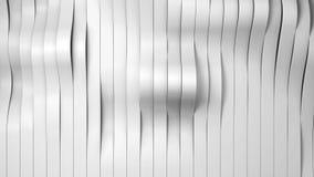 O branco futurista listra o fundo, ilustração 3d Imagens de Stock Royalty Free