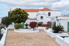 O branco tradicional abriga a Espanha de Lanzarote Imagem de Stock Royalty Free