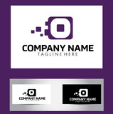 O Brief Logo Design Vector Business Card Royalty-vrije Stock Foto's