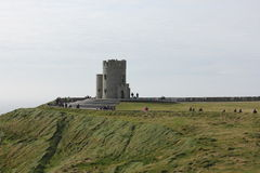 O ` Brien ` s塔, Moher,爱尔兰峭壁  免版税图库摄影