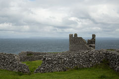 O'Brien's castle, Inisheer, Aran islands, Ireland. Ruins of O'Brien's castle on Inisheer, Aran islands, Ireland Royalty Free Stock Image