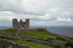 O'Brien's castle, Inisheer, Aran islands, Ireland. Ruins of O'Brien's castle on Inisheer, Aran islands, Ireland Royalty Free Stock Photography