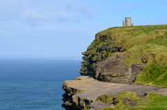 O`Brien`s Tower Along the Cliff`s of Moher in Ireland Stock Photography