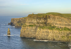 O'Brien's Tower on Cliffs of Moher in Ireland. Stock Photos