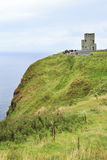 O'Brien's Tower on Cliffs of Moher. Stock Photo
