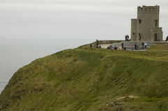 O'Brien's Tower. Opposite of the Cliffs of Moher in western Ireland, you will find the remains of O'Brien's Tower. Beautiful views Stock Image