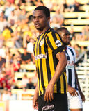 O'Brien Woodbine, Charleston Battery. O'Brien Woodbine in action against West Bromwich Albion at Blackbaud Stadium Royalty Free Stock Photo