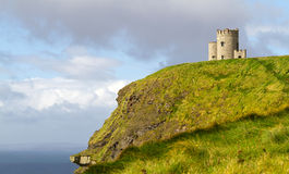 O'Briens tower. On Irish Cliffs of Moher Stock Image