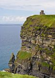 O'Briens Tower. On top of The Cliffs of Moher in County Clare, Ireland Royalty Free Stock Images