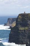 O' Briens Tower looks out over Cliffs of Moher, County Clare Stock Image