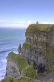 O'Briens Tower on top of The Cliffs of Moher. O'Briens Tower on top of The Cliffs of Moher in County Clare, Ireland Royalty Free Stock Image