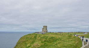 O-` Briens-Turm an den Klippen von Moher Lizenzfreie Stockfotos
