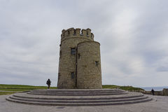 O'Briens Turm nahe dem Naturwunder - Klippen von Moher Lizenzfreie Stockbilder