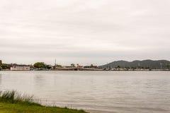 O brigde sobre o Lagoa a Dinamarca Conceicao Conception Lagoon, em F fotografia de stock royalty free