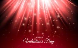 O brilho abstrato Sparkles feriado vermelho claro Imagens de Stock Royalty Free