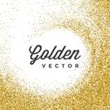 O brilho do ouro Sparkles vetor brilhante do branco dos confetes Fotografia de Stock