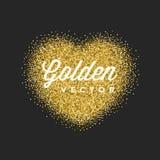 O brilho do ouro Sparkles vetor brilhante do preto dos confetes ilustração stock