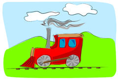 O brinquedo do trem caçoa a ilustração Imagem de Stock