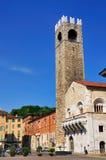 Broletto, câmara municipal velha de Bríxia, Italia Foto de Stock Royalty Free