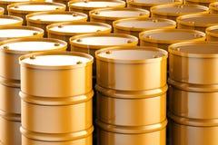 O bronze barrels o fundo Imagem de Stock