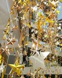 O bronze de prata do ouro stars a decoração Foto de Stock