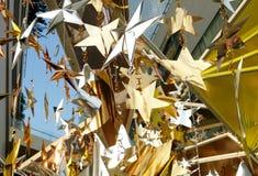 O bronze de prata do ouro stars a decoração Fotos de Stock Royalty Free