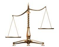 O bronze escala o conceito 3D isolado no branco Imagens de Stock Royalty Free