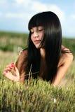 O brunette bonito Foto de Stock Royalty Free