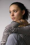 O brunette bonito Imagem de Stock