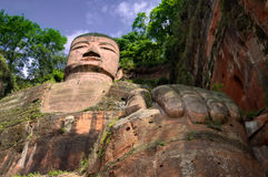 O buddah gigante da província de sichuan leshan Imagens de Stock Royalty Free